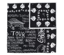 Schal mit Tour-Print