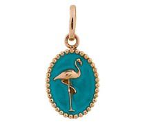 18kt Goldmedaillon mit Flamingo-Motiv