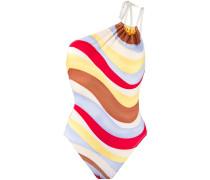 Badeanzug mit Wellen-Print