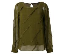 frayed design blouse