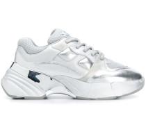 metallic chunky sole sneakers