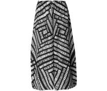 Cropped-Hose mit geometrischem Muster