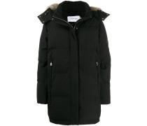 faux-fur hooded jacket