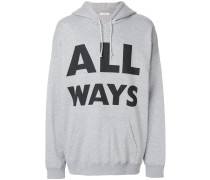 "Kapuzenpullover mit ""All Ways""-Print"