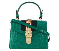 Green Sylvie crocodile tote bag