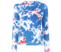 bleach-effect long sleeve top