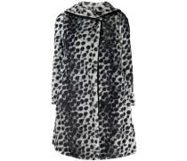 Wendbarer Mantel mit Leoparden-Print
