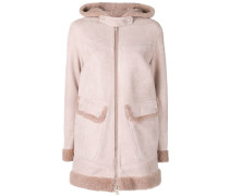 shearling parka coat
