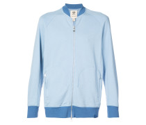 zip front bomber sweatshirt