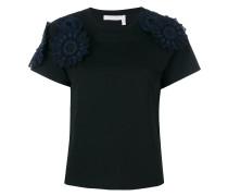 T-Shirt mit Blumen-Applikationen