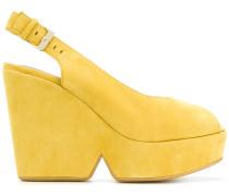 wedged slingback sandals