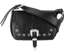 buckled shoulder bag