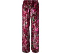Pyjamahose mit Blumen-Print