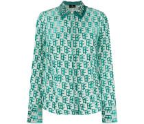 monogram print shirt