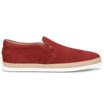 Perforierte Espadrille-Sneakers
