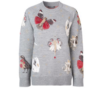 Intarsien-Pullover mit langen Ärmeln