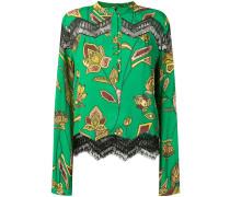 lace inserts floral blouse