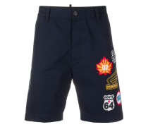 Chino-Shorts mit Logo-Patches