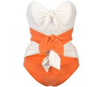 'Tripple Poppy' Badeanzug mit Knoten