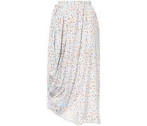 floral print draped skirt