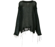 distressed effect sweater