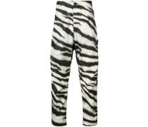 zebra stripe track pants