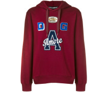 Amore patch hoodie