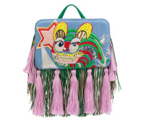 Handtasche mit Tigerstickerei