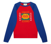 Cotton jersey sweatshirt with  logo