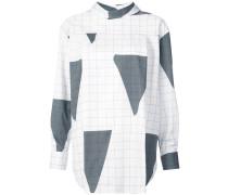 triangle grid pattern reversible shirt