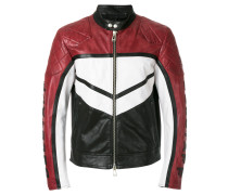 Bikerjacke in Colour-Block-Optik