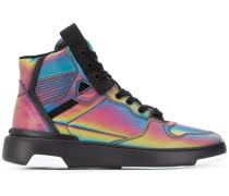 High-Top-Sneakers mit holografischem Effekt