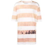 Gestreiftes T-Shirt in Batikoptik