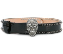 embellished skul belt