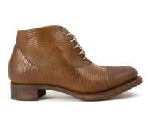 Stiefel mit Schnürung aus Eidechsenleder