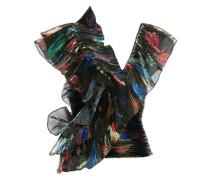 Plissierte Bluse mit Volants