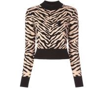 A.L.C. Cropped-Pullover mit Zebra-Print