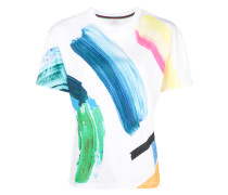T-Shirt mit Pinselstrich