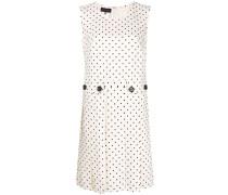 Gepunktetes Kleid mit Falten