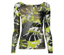 Langarmshirt mit Blätter-Print