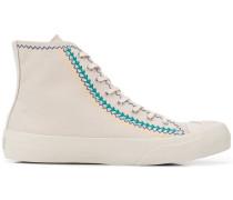 Bestickte High-Top-Sneakers