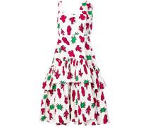 P.A.R.O.S.H. flared cactus print dress