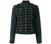 Officer military denim jacket
