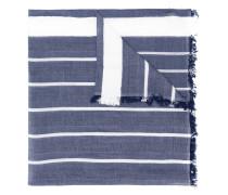 frayed hem striped scarf