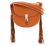 tassel flapped shoulder bag