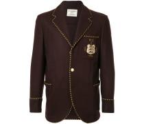 logo patch fitted blazer