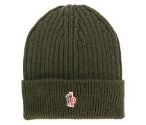 Gerippte Mütze mit Logo-Patch