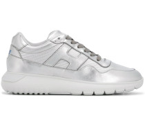 metallic low top trainers