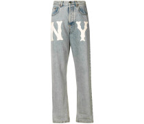 Jeans mit NY Yankees™ -Patch