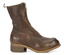 block heel zip front boots